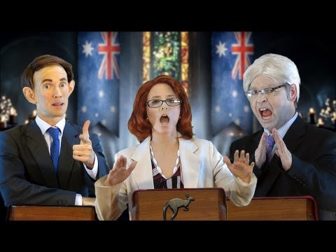 election - Rap News season finale: Episode 20 - A Game Of Polls. A messenger raven has arrived in the Juice Media studio bearing tidings from the land of Australios: El...