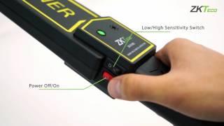 2-minute handheld metal detector demo