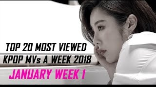Top 20 Most Viewed KPOP MVs a Week 2018 (January Week 1)