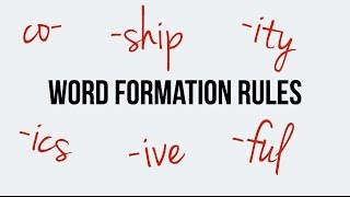 English. Word formation. Prefix: co-. Suffixes: ics, ive, ful, ship, ity.