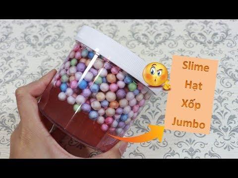 Trải Nghiệm Làm Slime Từ Hạt Xốp Jumbo Với Keo Trong II Hạt Xốp To Như Hột Trân Châu - Thời lượng: 11 phút.