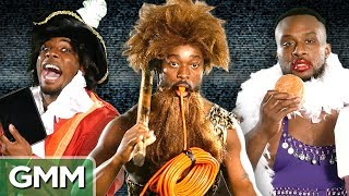 """WWE Superstars Big E, Kofi, and Xavier Woods of The New Day take a shot at the Random Commercial Challenge. GMM #1157!Special thanks to the WWE - check out their YouTube channel: https://www.youtube.com/WWEThe New Day: https://twitter.com/TheNewDayWWEXavier Woods: Twitter: https://twitter.com/XavierWoodsPhDInstagram: https://www.instagram.com/xavierwoodsphd/UpUpDownDown: https://www.youtube.com/channel/UCIr1YTkEHdJFtqHvR7RwttgKofi Kingston: https://twitter.com/TrueKofihttps://www.instagram.com/TheTruekofi/Big E: https://twitter.com/WWEBigEhttps://www.instagram.com/WWEBigE/SUBSCRIBE to GMM: http://bit.ly/subrl2  Watch today's GMMore episode: http://bit.ly/WWTeaParty  Don't miss This Is Mythical: http://bit.ly/TIMFamousCatsFor rules and more info on how to submit a #10SecondTour go to http://www.rhettandlink.com/10secondtourFollow Rhett & Link:Facebook: http://facebook.com/rhettandlinkTwitter: http://twitter.com/rhettandlinkTumblr: http://rhettandlink.tumblr.comInstagram: http://instagram.com/rhettandlinkOther Rhett & Link Channels:Main Channel: https://youtube.com/rhettandlinkGood Mythical MORE: https://youtube.com/user/rhettandlink3Rhett & Link EXTRAS: https://youtube.com/user/rhettandlink4GMM Merch: http://bit.ly/RhettLinkStoreWatch More GMM:Choose a Season:  http://bit.ly/2axhxZNPopular Videos: http://bit.ly/2afIJ12Latest Uploads: http://bit.ly/2aZMw3KWill It?: http://bit.ly/2a64BiVTaste Tests: http://bit.ly/2a4v5hZListen to our FREE podcast, Ear Biscuits:Apply Podcasts: http://apple.co/29PTWTMSpotify: http://spoti.fi/2oIaAwpArt19: https://art19.com/shows/ear-biscuitsJOIN the RhettandLinKommunity: http://bit.ly/rlkommunityMail us stuff to our P.O. Box: http://rhettandlink.com/contactSubmit a Wheel of Mythicality intro video: http://bit.ly/GMMWheelIntroWe are two Internetainers dedicated to giving you a daily dose of casual comedy every Monday-Friday on our show """"Good Mythical Morning."""" Thanks for making us a part of your daily routine. Be your mythical best! - Rhe"""