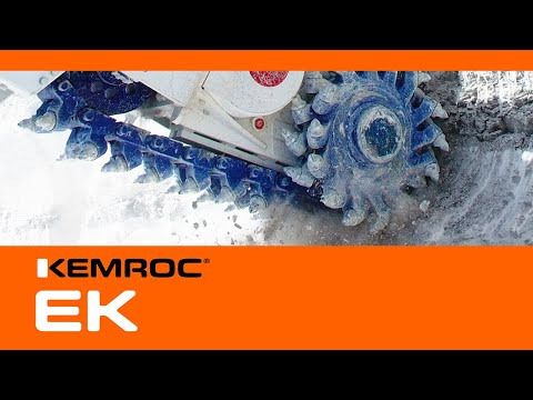 Video Youtube - KEMROC EK chain cutters reduce wear & tear on the excavator swing gear and save energy