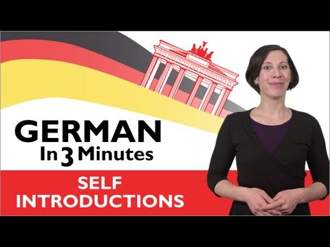 Learn German - German in Three Minutes - How to Introduce Yourself in German (видео)