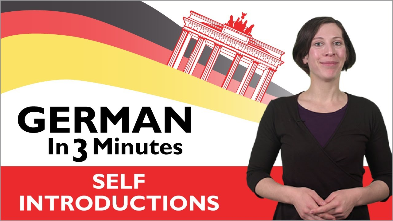 Learn German – German in Three Minutes – How to Introduce Yourself in German