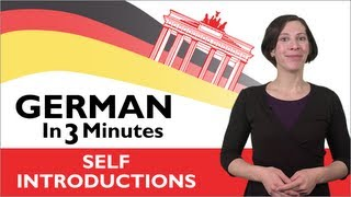 German In Three Minutes - How To Introduce Yourself In German
