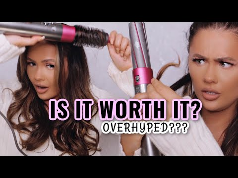 IS IT OVERHYPED?? TESTING THE DYSON AIRWRAP | ItsSabrina