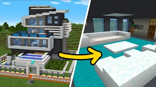 Minecraft: How to Build The Safest Modern House - Interior Tutorial
