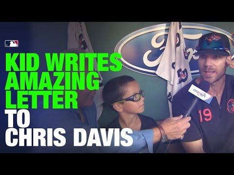 Video: 9-year-old writes heartwarming letter to Orioles' Chris Davis