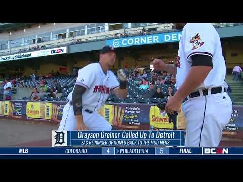 Mud Hens Catcher Grayson Greiner Gets Call Up to Detroit