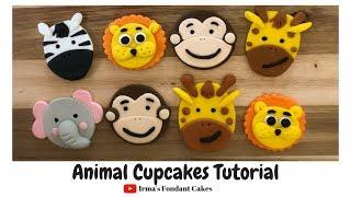 How to make animal cupcakes | Irma's Fondant Cakes (5 styles)