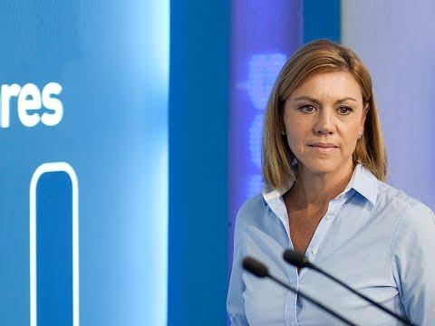 Cospedal: Hay que terminar de una vez por todas con la ceremonia de la confusión en Cataluña
