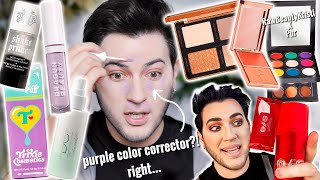 TRYING $1,000 WORTH OF NEW VIRAL OVER HYPED MAKEUP... Gimmick or Gorga?! by Manny Mua