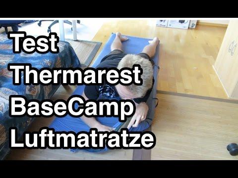 Test Thermarest BaseCamp Luftmatratze | selbstaufblasende IsoMatte | selbstaufblasende Luftmatratze