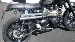 8. Triumph Scrambler with Massmoto exhaust
