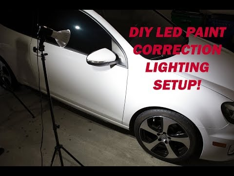 DIY LED Paint Correction / Detailing Lighting Setup! Super Simple and very inexpensive to make!