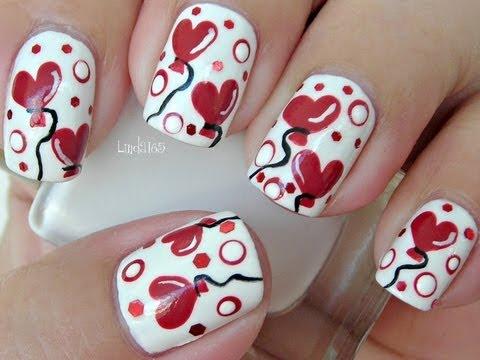 nail art - palloncini a cuore