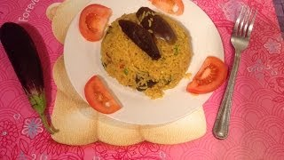Vangi bath or brinjal rice recipe