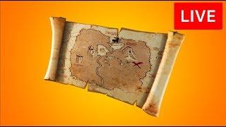 🔴 [LIVE] *NEW* FORTNITE BURIED TREASURE ITEM! - TREASURE HUNT & MAP! (FORTNITE BATTLE ROYALE)
