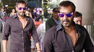 BAADSHAHO Ajay Devgn Spotted at Mumbai Airport.Click this below link and subscribe to our channel to get all updates on Bollywood Movies, and your favorite Bollywood actresses and actors.http://goo.gl/cfijvC