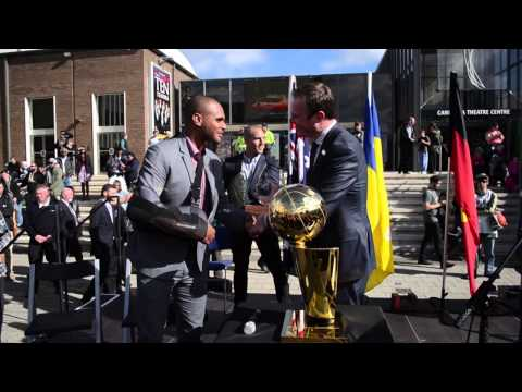 Spurs Championship Trophy Tour%3A  Patty Mills and Aron Baynes in Australia