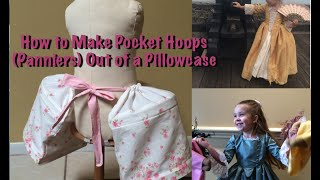 Tutorial on how to make a pair of panniers (pocket hoops) out of a pillowcase. For larger, adult sized Panniers, please see my other tutorial. :)