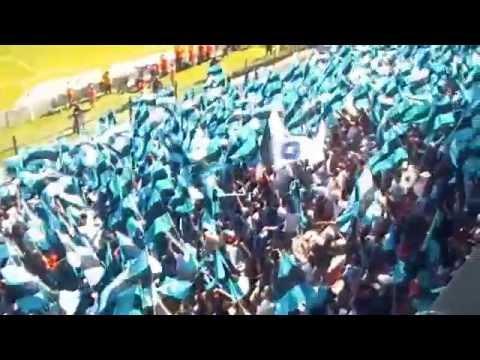 Gallos Blancos Queretaro Recibimiento MIL BANDERAS Resistencia Albiazul vs San Luis - La Resistencia Albiazul - Querétaro