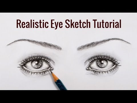 DIY Pencil Sketching Tutorial : How To Draw Realistic Eyes Sketch