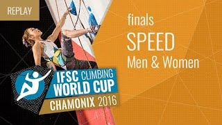 IFSC Climbing World Cup Chamonix 2016 - Speed - Finals - Men/Women by International Federation of Sport Climbing