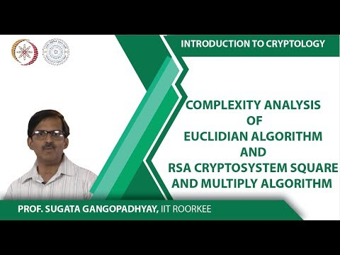 Complexity analysis of Euclidian Algorithm and RSA Cryptosystem square and multiply algorithm