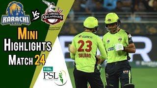 Short Highlights | Lahore Qalandars Vs Karachi Kings  | Match 24 | 11 March | HBL PSL 2018