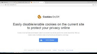 """Cookies On-Off is an extension for Google Chrome that promise to disable and enable cookies for current domain in a single click. However, some people want to remove it, because extension is annoyed and could installed without any permissions.This video is an instruction how to delete Cookies On-Off from the PC and your Google Chrome manually. Antimalware scanner that can delete Cookie On-Off and protect browser from other virus: http://pcfixhelp.net/removal-toolCookies On-Off brief removal guide1. Reset Google Chrome2. Fix browser extensions3. Remove """"Cookies On-Off"""" folder4. Reset the computerText guide: http://pcfixhelp.net/ads/3698-how-to-remove-cookies-on-off-from-google-chrome"""