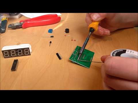 DIY Alarm clock kit from Banggood