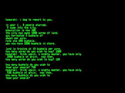 Hamurabi for the Commodore PET\\Commodore CBM