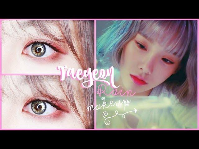 Taeyeon-rain-makeup-tutorial-김태연