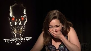 OMG, could Emilia Clarke be any more adorable? We have loved her as Daenerys Targaryen and now you can see her as Sarah Connor in Terminator Genisys.