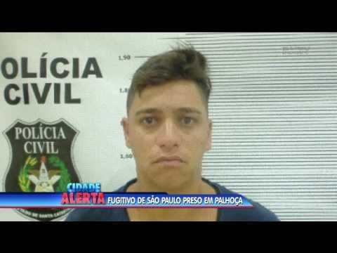 Fugitivo de São Paulo é preso em Palhoça