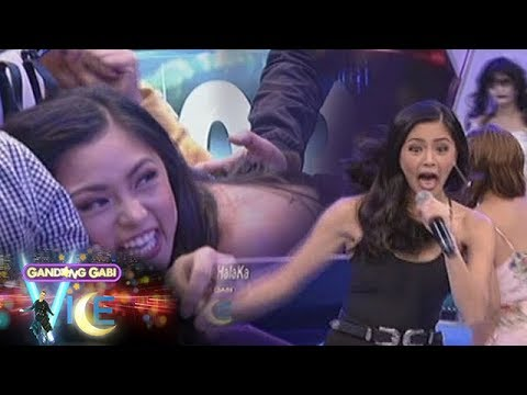 Kim Chiu dives in fear upon seeing a 'ghost bride' | GGV