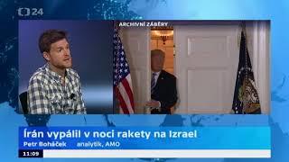 Írán vypálil rakety směrem na Izrael