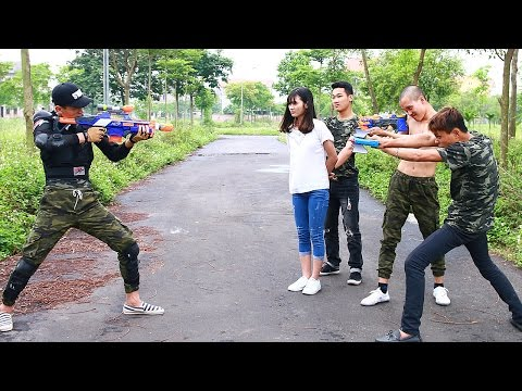 Video Nerf War Movies SWAT Sniper Nerf Guns kidnapper Police Girlfriend Rescue Superhero guns download in MP3, 3GP, MP4, WEBM, AVI, FLV January 2017