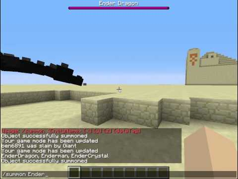 Minecraft 1.7.9+forever How to spawn Giants and the Ender Dragon (with cheats on)