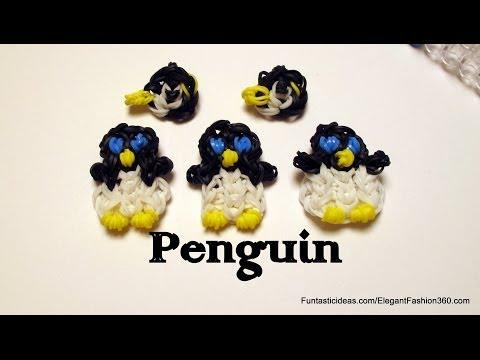 Как сделать на резинок пингвин