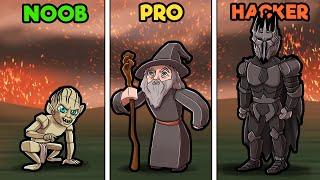 Lord of the Rings CASTLE WARS! (Noob vs PRO vs Hacker)