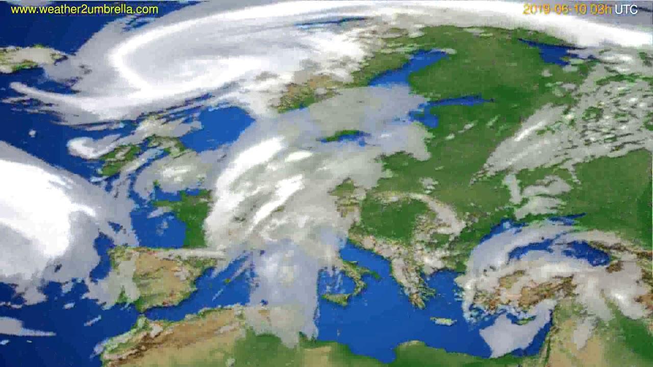 Cloud forecast Europe // modelrun: 00h UTC 2019-06-07