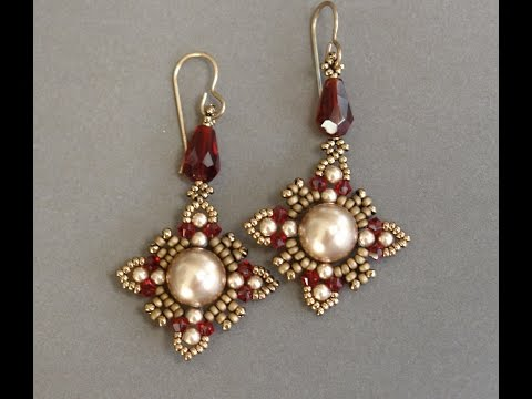 Sidonia's handmade jewelry - Oriental earrings Beading tutorial
