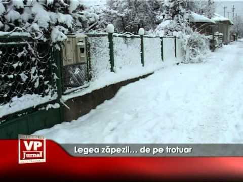 Legea zăpezii… de pe trotuar