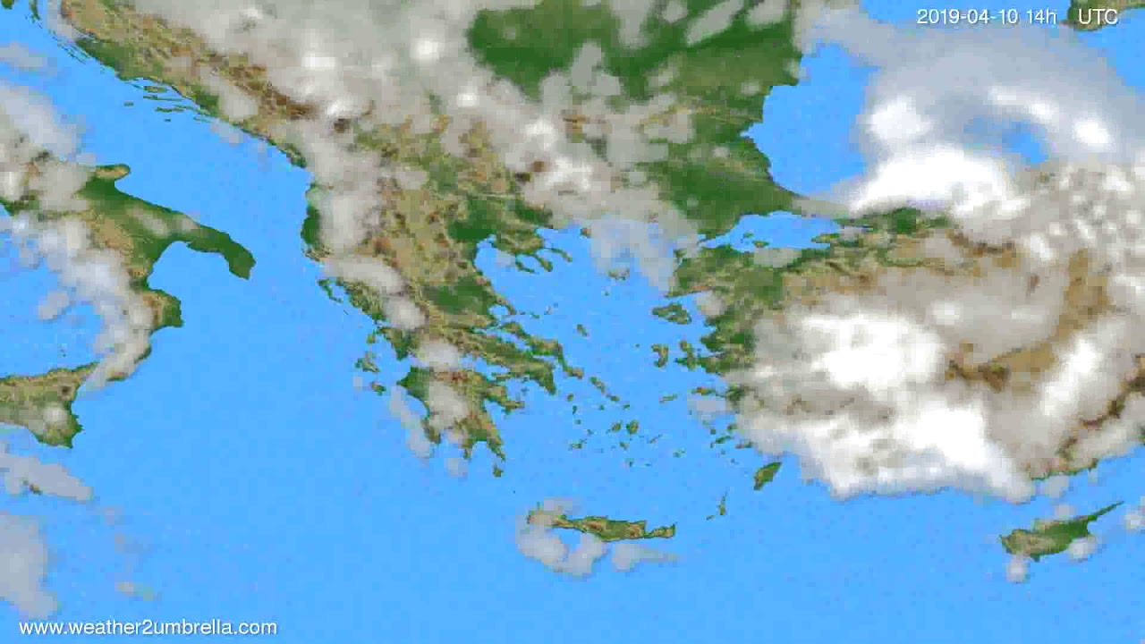 Cloud forecast Greece // modelrun: 00h UTC 2019-04-08