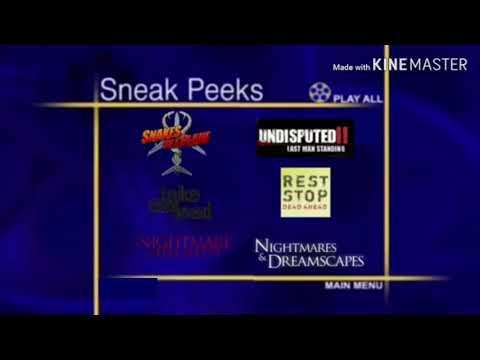 Sneak Peeks Menu from the Butterfly Effect 2 2006 DVD