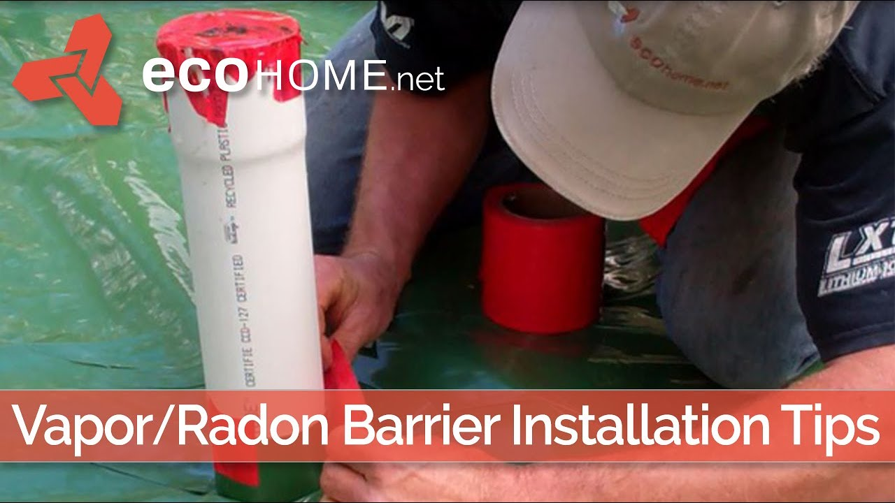 Installing A Radon Barrier Below Slab Floor Green Home