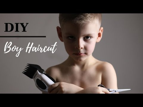 Hair cutting - How To Cut Boys Hair  DIY HAIRCUT
